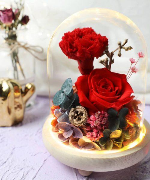 熱烈の愛永生花