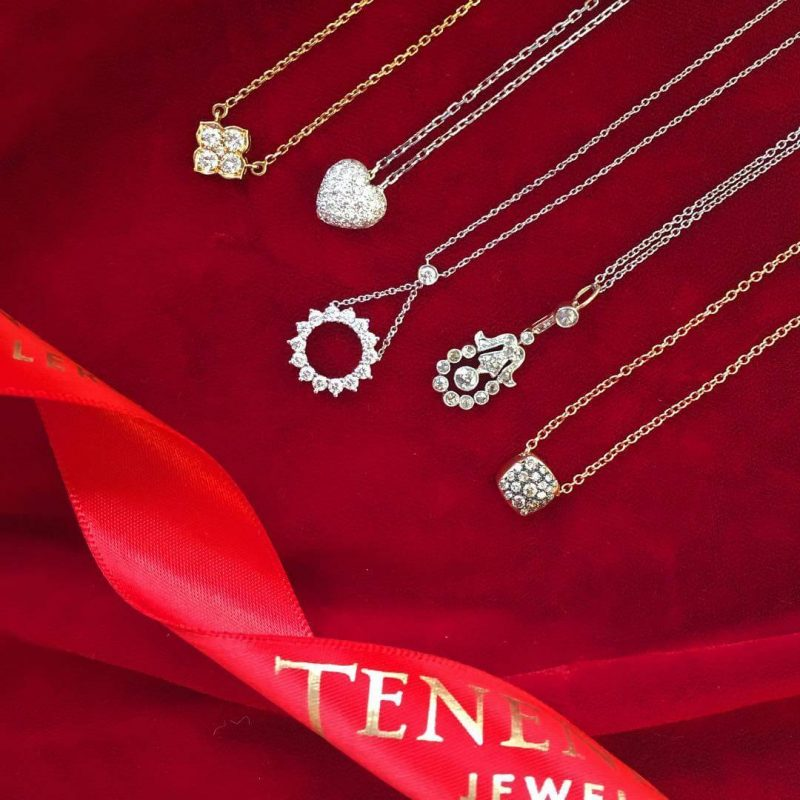 鑽石頸鏈 - 情人節禮物