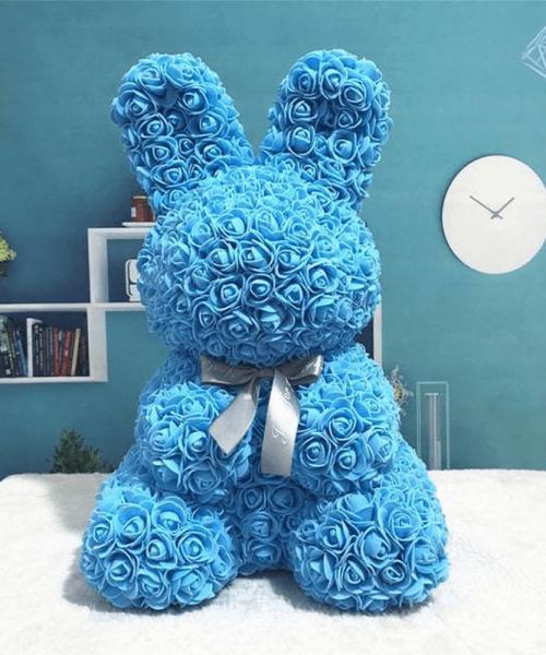 藍色玫瑰兔肥皂花