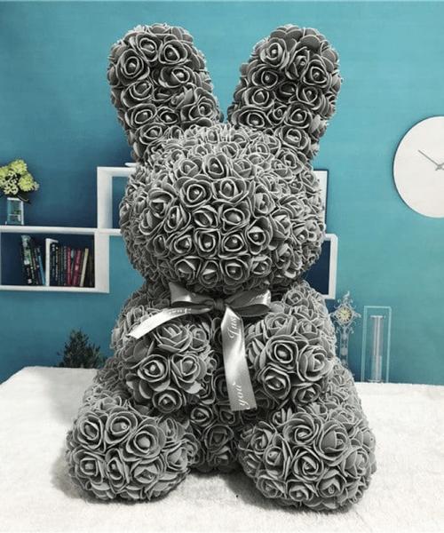 灰色玫瑰兔肥皂花