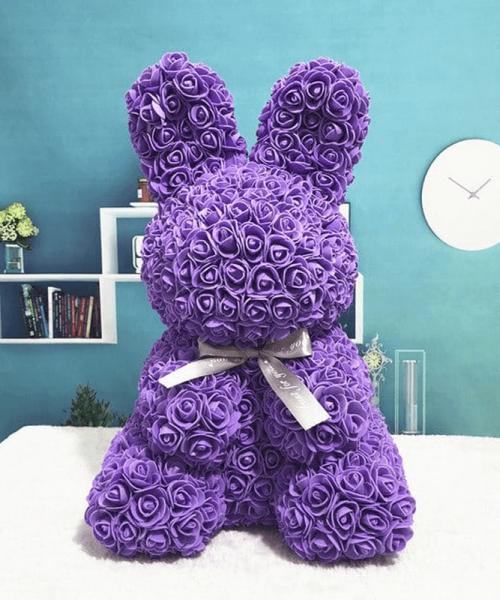 紫色玫瑰兔肥皂花
