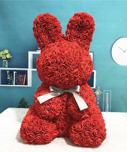 紅色玫瑰兔肥皂花