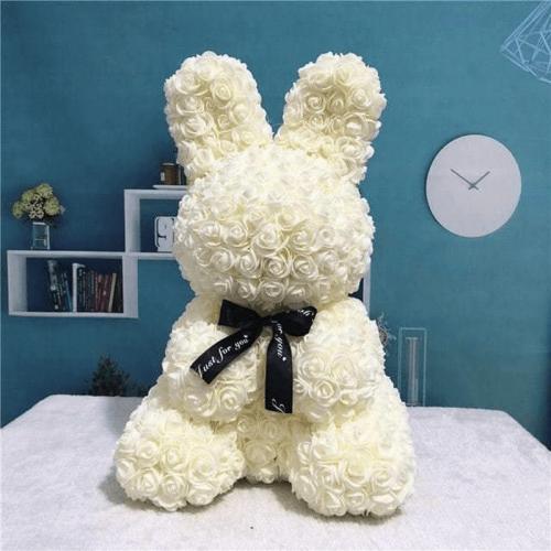 白色玫瑰兔肥皂花