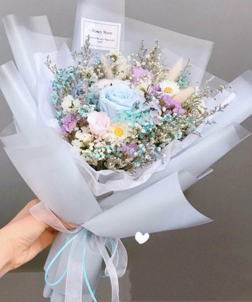 朝思暮想乾花保鮮花束