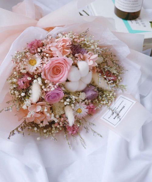 情竇初開乾花保鮮花束