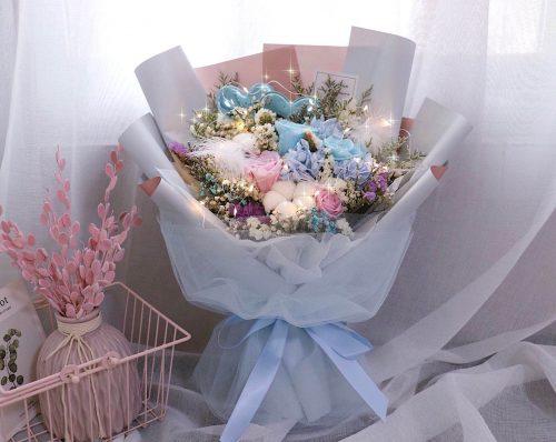 山盟海誓乾花保鮮花束