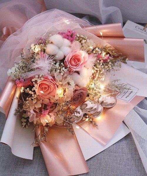 誓海盟山乾花保鮮花束